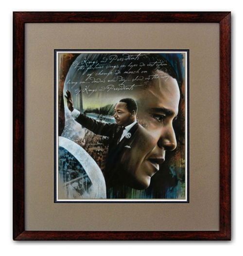 Obama -MLK artwork. 44 giclees available and for a short time go to our store to get a Free print of this piece.